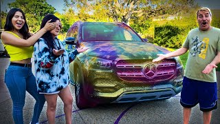 I HYDRO DIPPED MY WIFES NEW CAR!!