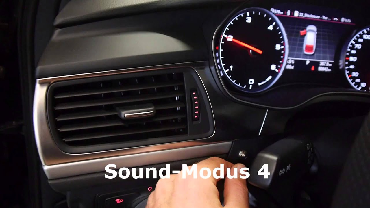 active sound mit sound booster pro im audi a6 avant 3 0. Black Bedroom Furniture Sets. Home Design Ideas