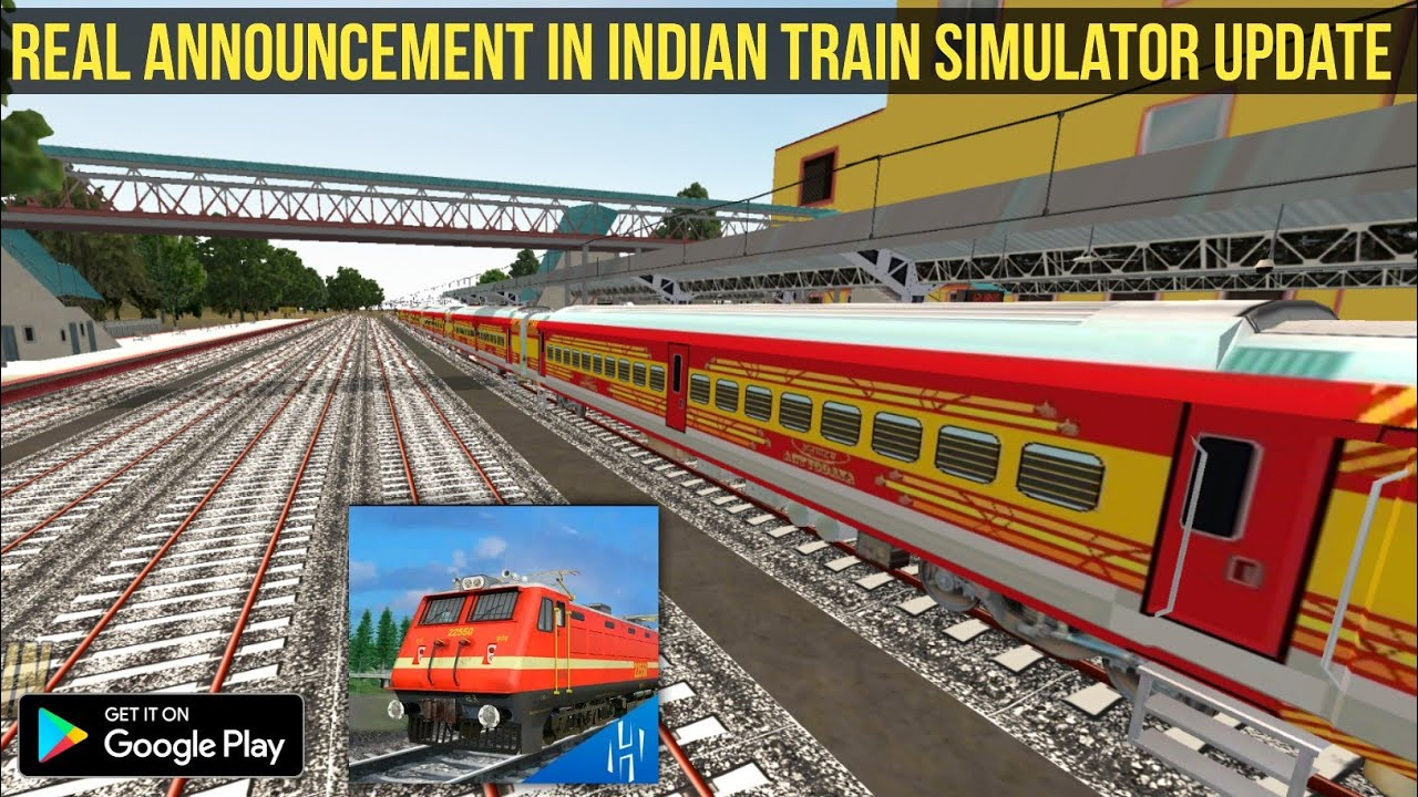 Indian train simulator new update | Real Announcement | Real Horn