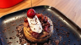 Cherry Chocolate Pancakes