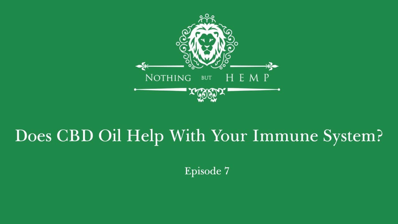 Does CBD help with your immune system?