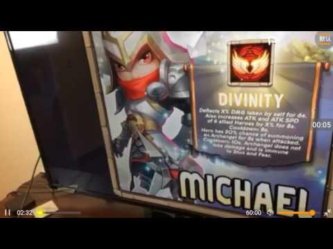 New Hero MICHAEL  Sneak Peek - Castle Clash