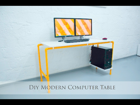 DIY Modern Computer Table