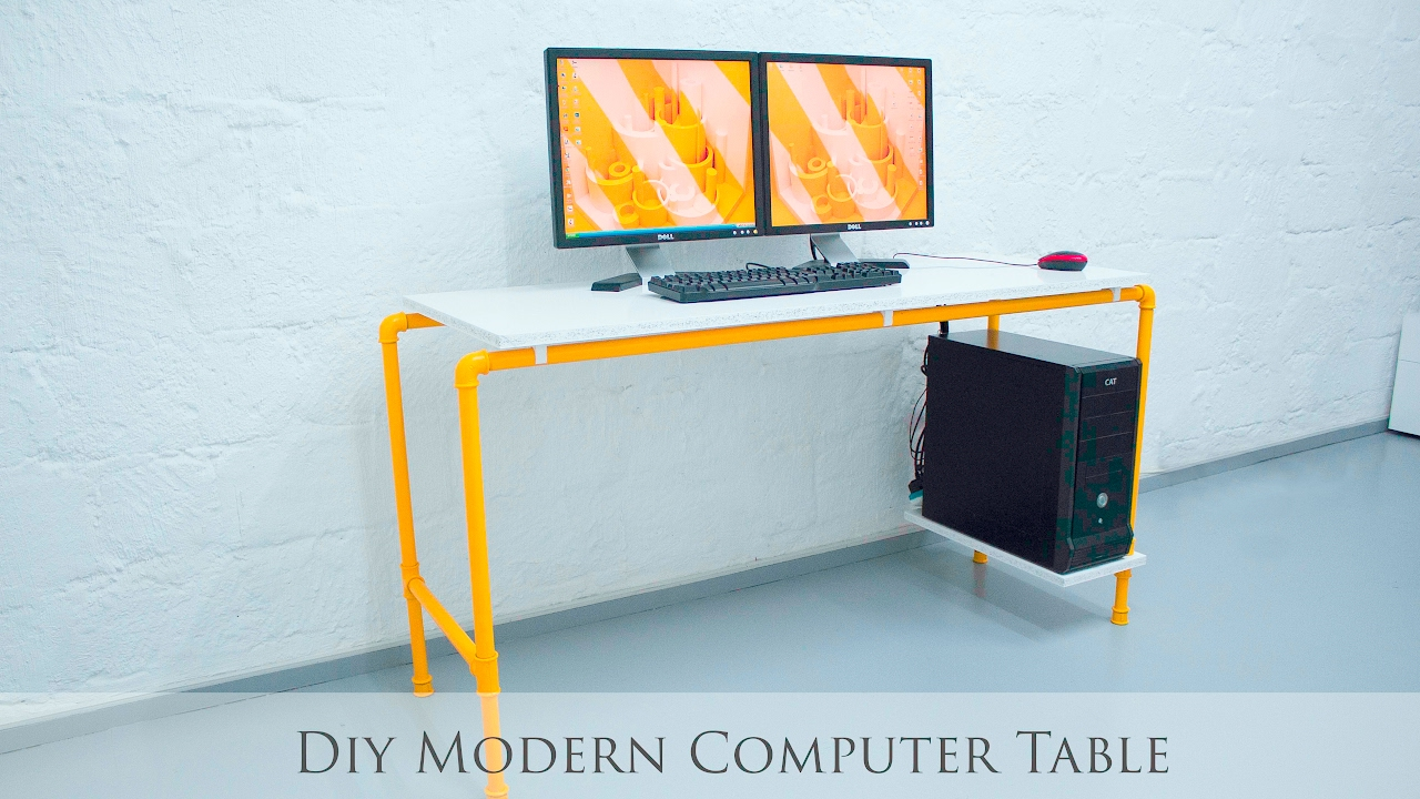 Charmant DIY Modern Computer Table   YouTube