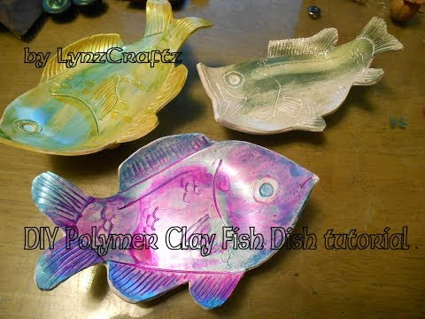 DIY Polymer Clay Fish Dish tutorial