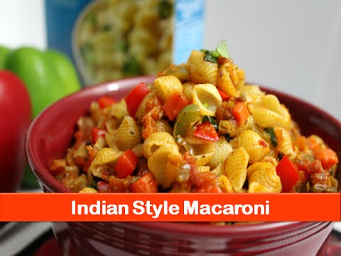 Macaroni Pasta Recipe Simple Easy Indian Style Vegetarian Recipes