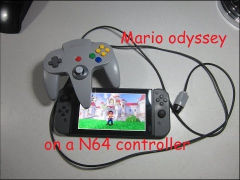 Mario Odyssey with a N64 controller