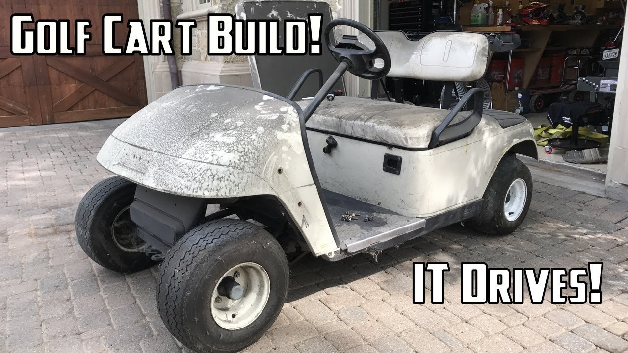 Golf Cart Build Part 1 | Getting it Running and Disembly - YouTube Build Golf Cart Utv on anglia build, 4x4 build, buggy build, trailer build, car build, camper build, sportbike build, jeep build,