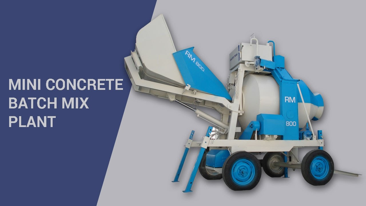 Mini Concrete Batch Plant Cube : Mini concrete batch mix plant video by atlas equipments