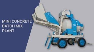 Mini concrete batch mix plant video by Atlas Equipments, India