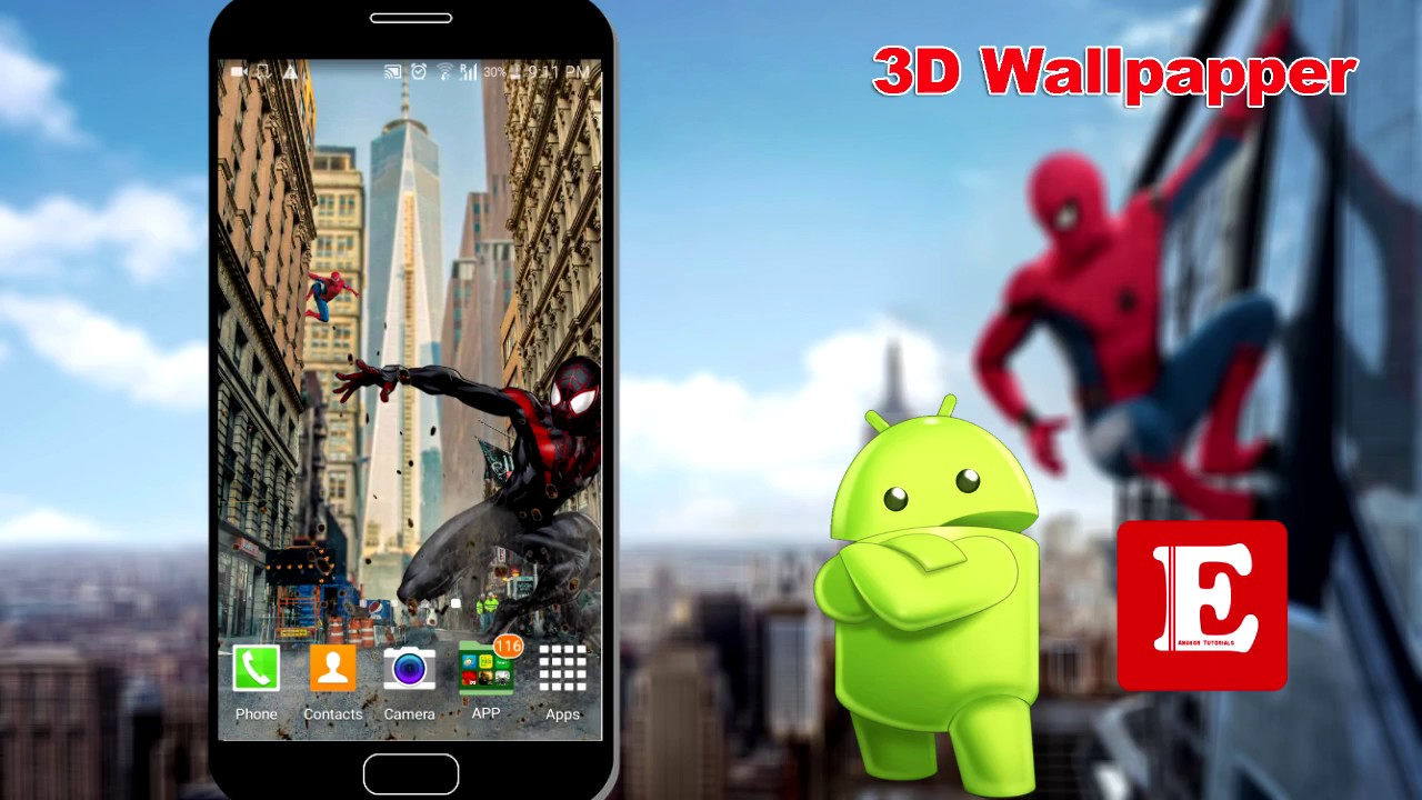 3D Wallpaper Set As HomeScreen For Android Phone