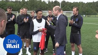 Prince William meets the England squad ahead of 2018 World Cup