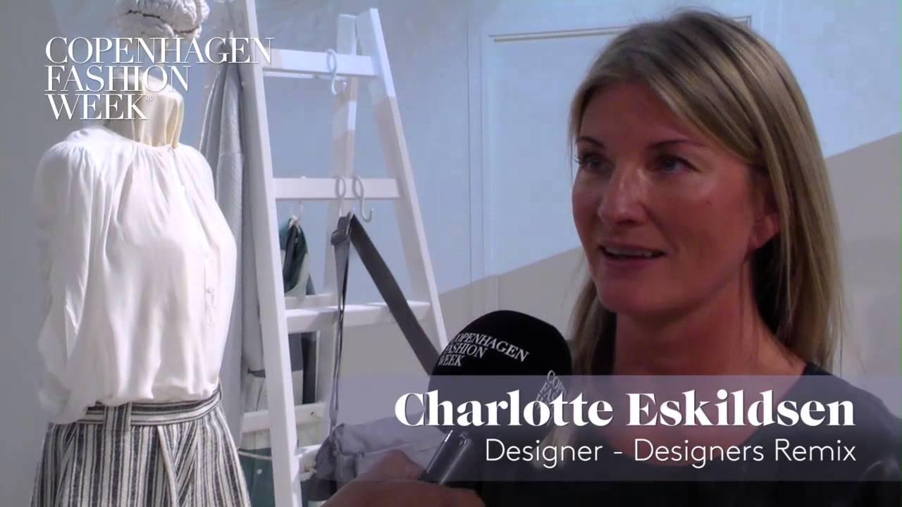 Charlotte Eskildsen Designer Designers Remix Interview Ss14 Youtube