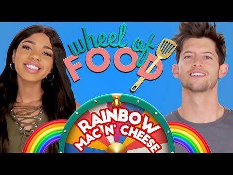 RAINBOW MAC N CHEESE CHALLENGE?! Wheel of Food w/ Teala Dunn & Hunter March