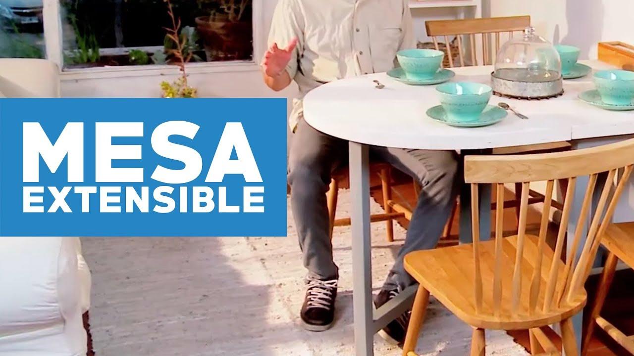 C mo hacer una mesa de comedor extensible youtube for Como hacer una mesa de comedor