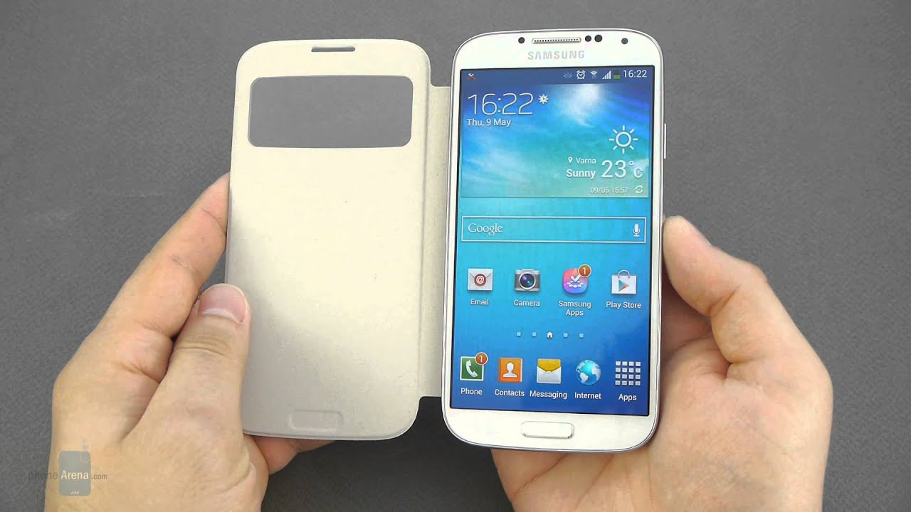 Samsung galaxy s4 s view cover hands on youtube ccuart Image collections