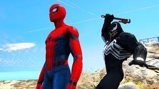 GTA 5 Spiderman Vs Venom Euphoria Ragdolls Compilation