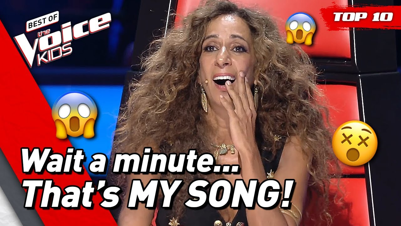 KIDS who auditioned with a COACH SONG in The Voice Kids! ? | TOP 10