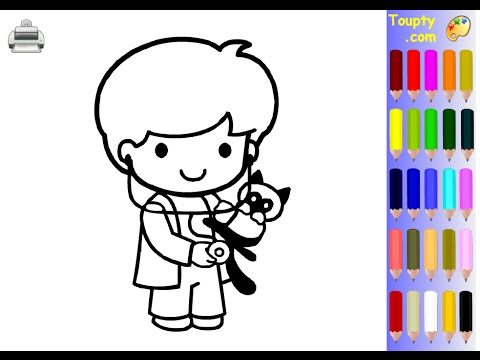 Vet Coloring Pages For Kids Vet Coloring Pages YouTube
