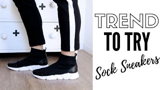 2018 Fashion Trends To Try | How To Style Sock Sneakers