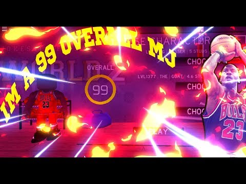 I'M A 99 OVERALL MINI Michael Jordan) RB WORLD 2 - RB World 2 BETA Gameplay