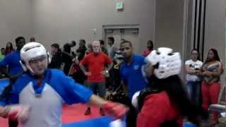 Elena Light Contact Fighting at Blitz Martial Arts Charity Event