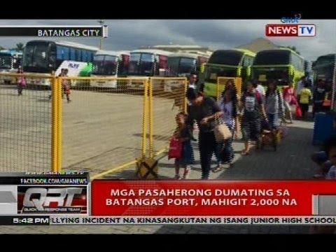 Mga pasaherong dumating sa Batangas Port, mahigit 2,000 na