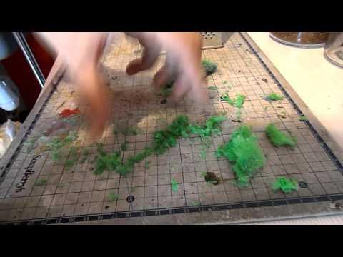 Флок из губки для мытья посуды.  Вариант 2.