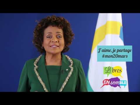 Message de la Secrétaire générale de la Francophonie S.E. Mme Michaëlle Jean