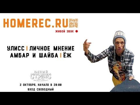 Концерт Homerec.ru (2 октября 2016) / Shaiba, Амбар, Гулливер, Ёж