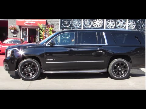 2016 YUKON XL DENALI WITH CUSTOM 22 INCH RIMS ALL BLACK CUSTOM RIMS