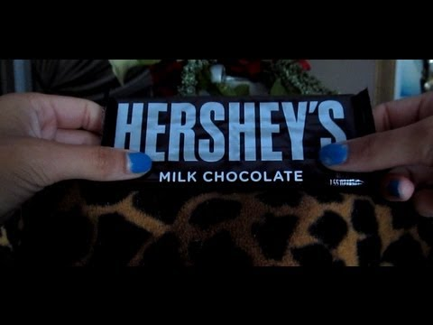 Whispered Hershey's Milk Chocolate Bar Unwrapping and Eating