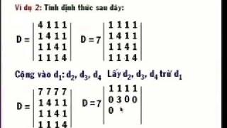 Toán cao cấp 1 - Định thức ma trận -  tính định thức ma trận [P3]