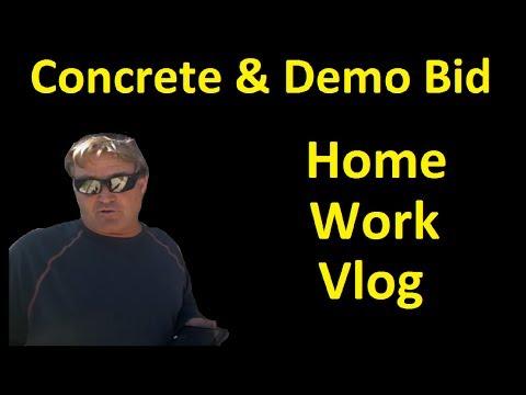 New Home Remodel & Concrete Bid Backyard ~ New Vlog Series