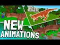 How to tame a realistic T-REX in Minecraft PE + NEW ANIMATIONS | Tyrannosaurus Rex Addon | MCPE 1.8