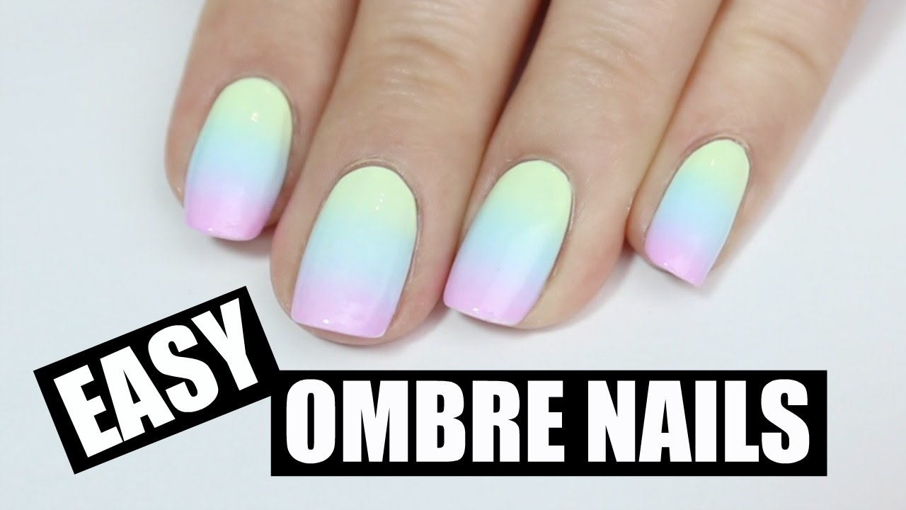easy pastel ombr nails
