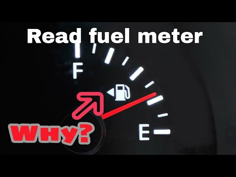 How do you read a fuel meter in car?for new Learner's only Learn to turn