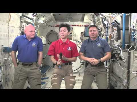 Space Station Crew Members Discuss Life in Space with Japan's Prime Minister