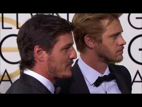 Boyd Holbrook and Pedro Pascal Fashion  Golden Globes 2016