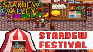 STARDEW VALLEY FESTIVAL: Prizes, Games & Relationship Guide (Stardew Valley Gameplay #5)