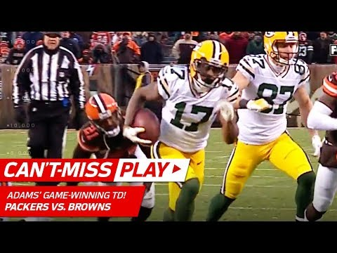 Adams Grabs Game-Winning TD in OT After Green Bay Picks Off Kizer! | Can't-Miss Play | NFL Wk 14