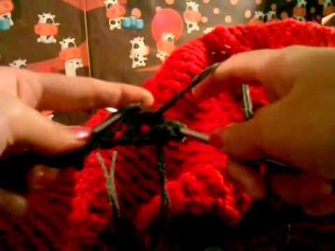 Cách đan khăn lưới