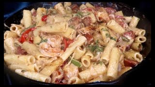 Creamy Cajun Pasta With Chicken, Sausage And Shrimp
