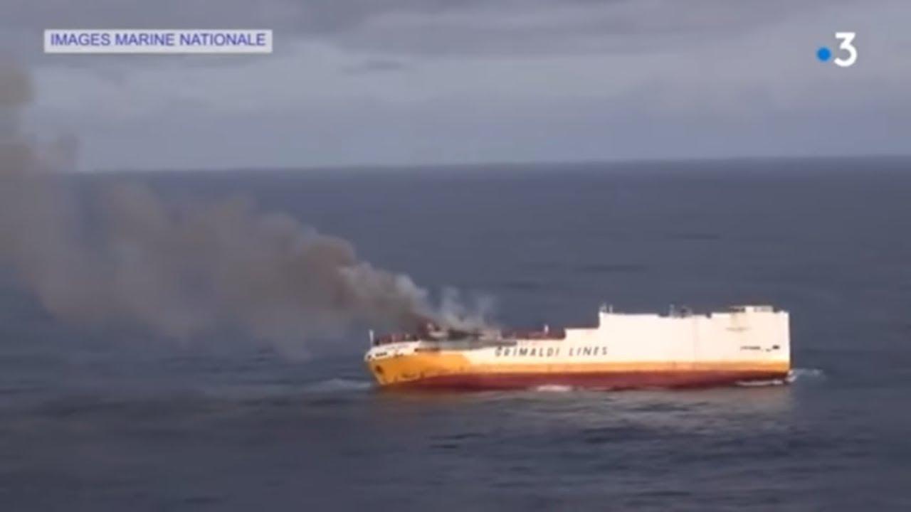 Frachtschiff untergegangen: An Frankreichs Küste droht eine Ölpest