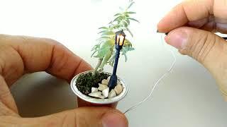 Veja como instalar as luzes e postes em mini jardins neste passo a ...