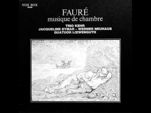 JACQUELINE EYMAR plays FAURE Piano Quintet No.1 Op.89 (1966)