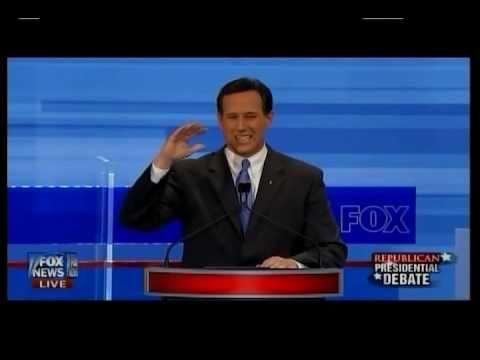 Rick Santorum at the 1st GOP Presidential Debate