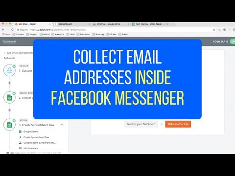 How To Collect Email Addresses Within Facebook Messenger