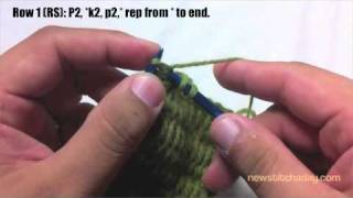 Learn How to Knit The Vertical Bar Line Stitch English Style