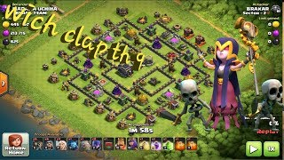 Witch slap attack in Town Hall 9.. easily 3 star in any th 9 bass..#clash of clans